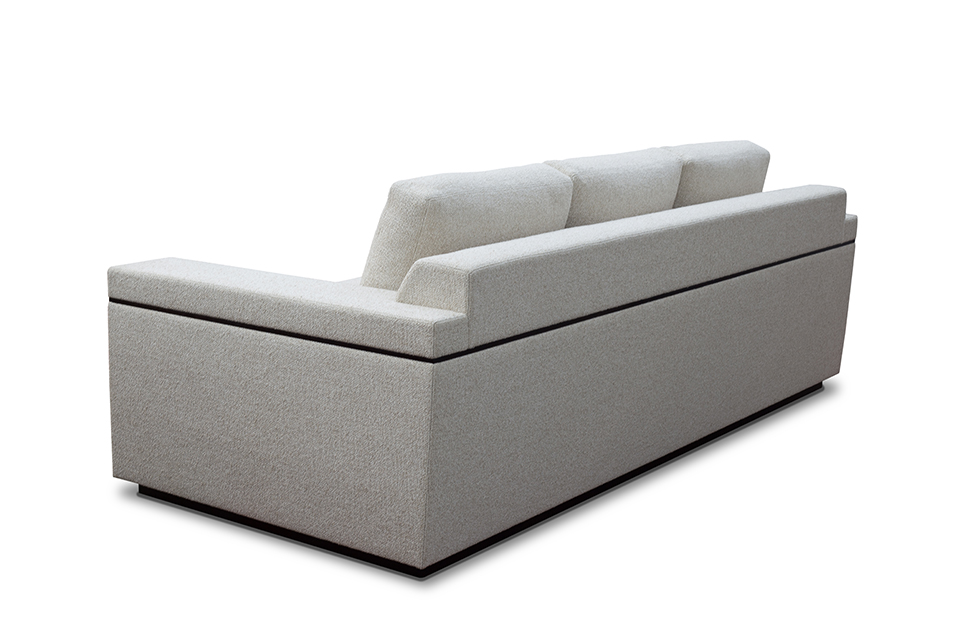 Sofa from back left angle