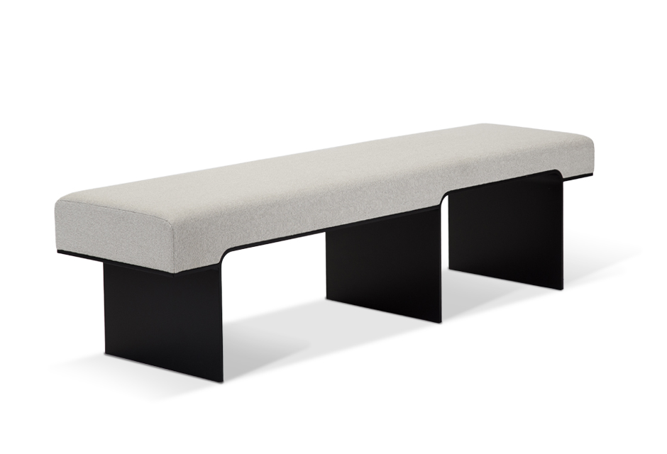 bench from front left angle